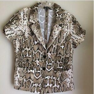 Fashion Bug Career Blazer Jacket Snake Print